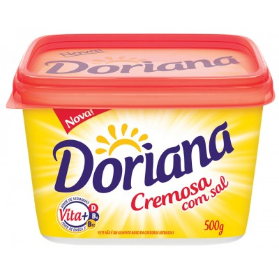 2857 - margarina com sal 80% lipídios Doriana 500g