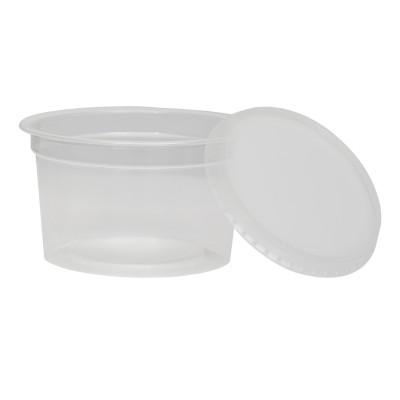 2901 - pote 250ml transparente redondo com tampa freezer/micro Plaszom 25un