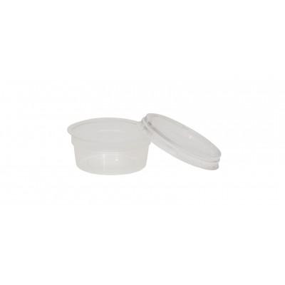 3008 - pote 100ml transparente redondo com tampa freezer/micro Plaszom 25un