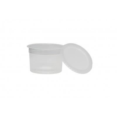 3011 - pote 145ml transparente redondo com tampa freezer/micro Plaszom 25un