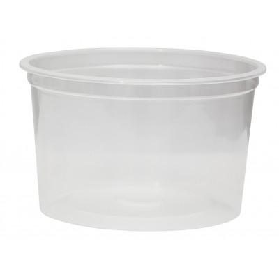 3019 - pote 1L transparente redondo com tampa freezer/micro Plaszom 25un