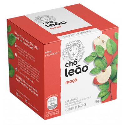 3039 - chá maçã Leão 10 envelopes