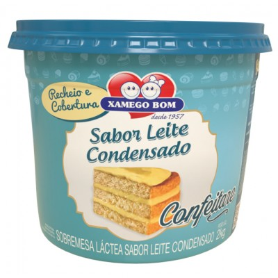3062 - recheio e cobertura leite condensado Xamego Bom 2kg