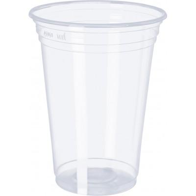 3071 - copo 400ml transparente liso PP Copobras 50un ppt440 (tampa 2414)
