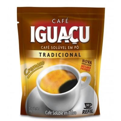 3079 - café solúvel Iguaçu refil 50g