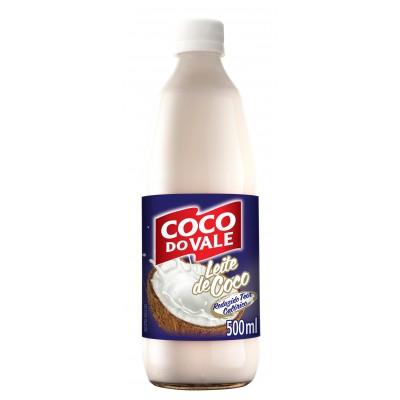 3265 - leite coco 9% gordura Coco do Vale garrafa 500ml