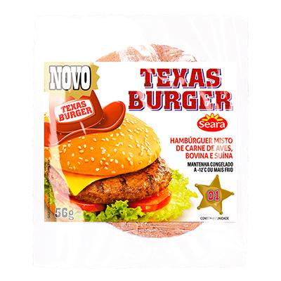 3300 - hambúrguer frango/bovino Texas burger Seara 36 x 56g
