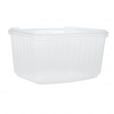 3366 - pote 1,5L transparente retangular com tampa freezer/micro Kopus 30un