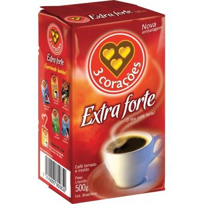3454 - café extra forte 3 Corações vácuo 500g
