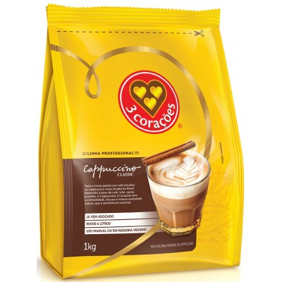 3456 - vending cappuccino clássico 3 Corações 1kg