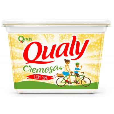 3464 - margarina sem sal 80% lipídios Qualy 500g