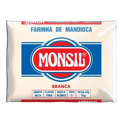 3501 - Farinha de mandioca branca Monsil 1kg plástico