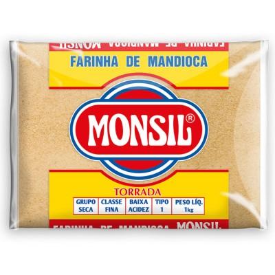 3502 - Farinha de mandioca torrada Monsil 1kg plástico
