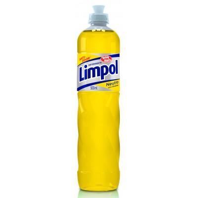 3523 - detergente neutro amarelo Limpol 500ml