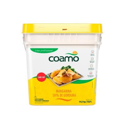 3622 - margarina com sal 50% lipídios Coamo 15kg