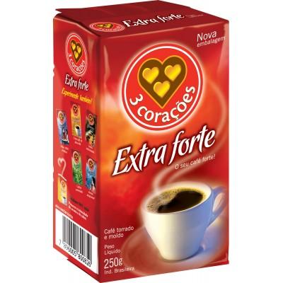 3639 - café extra forte 3 Corações vácuo 250g