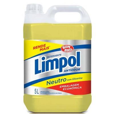 3641 - detergente neutro amarelo Limpol 5L