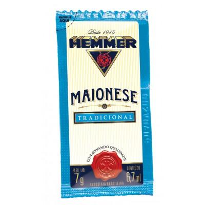3644 - sachê maionese Hemmer 190 x 7g 30% de lipídios