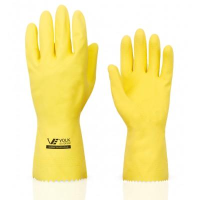 3750 - luva Látex amarela verniz silver média Volk par 30cm
