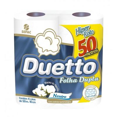3770 - papel higiênico folha dupla Duetto 4 x 50mt