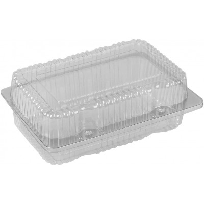 3777 - embalagem retangular articulada Bipack BP-13 100un 20 x 14,5 x 7,8 cm