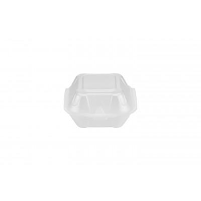 3852 - hamburgueira isopor 01 branca Bom Apetite 100un 13,7 x 12,8 x 7cm BH01