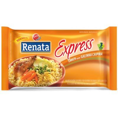 3860 - macarrão instantâneo sabor galinha caipira Renata 85g