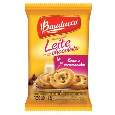 3972 - sachê biscoito leite com gotas Bauducco 400 x 11,8g