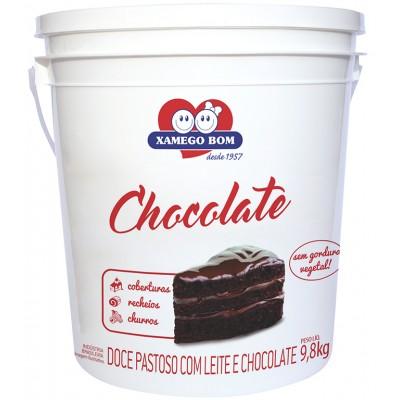 4000 - doce de leite com chocolate Xamego Bom balde 9,8kg