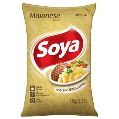 4010 - maionese Soya bag 3kg 16% lipídios