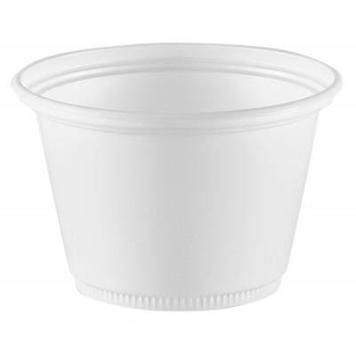 4025 - pote 100ml branco redondo sem tampa Copaza 100un P-100 (tampa 6420)
