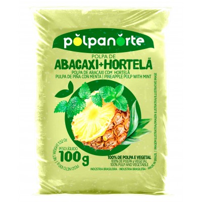 4029 - polpa de abacaxi com hortelã Polpa Norte 10 x 100g
