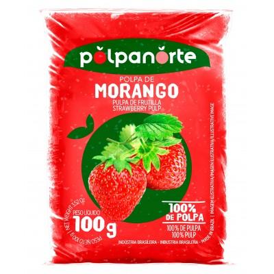 4031 - polpa de morango Polpa Norte 10 x 100g