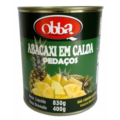 4058 - abacaxi extra calda pedaços Obba 400g