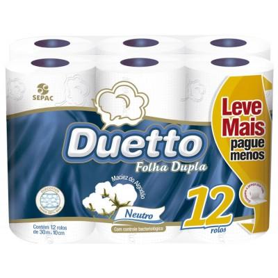 4106 - papel higiênico folha dupla Duetto 12 x 30mt