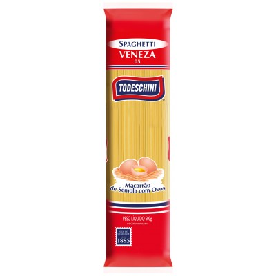 4148 - macarrão espaguete ovos Veneza 05 Todeschini 500g