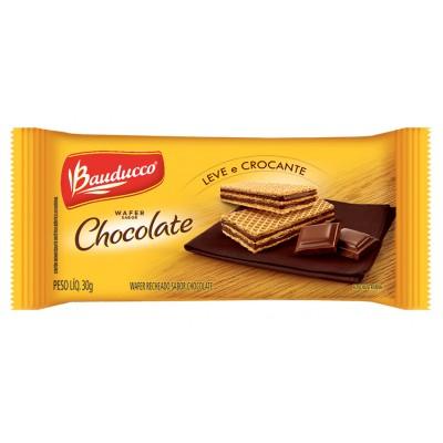 4371 - sachê biscoito wafer chocolate Bauducco 96 x 30g