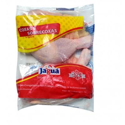 4381 - frango - coxa e sobrecoxa com osso com pele Jaguá pacote
