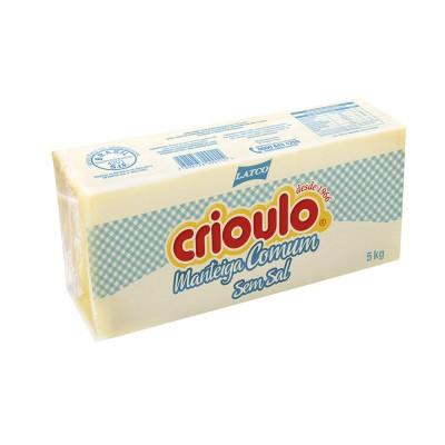 4474 - manteiga sem sal Crioulo 5kg