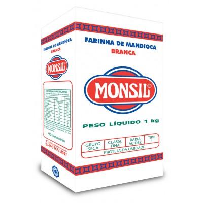 4482 - Farinha de mandioca branca Monsil 1kg papel