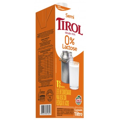4494 - leite semidesnatado zero lactose Tirol 1L