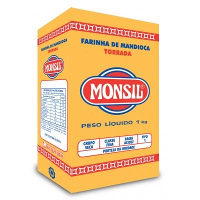 4510 - Farinha de mandioca torrada Monsil 1kg papel