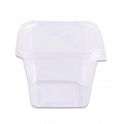 4519 - pote 250ml transparente quadrado com tampa freezer/micro Prafesta 20un