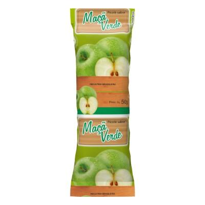 4552 - embalagem para picolé maçã verde 290un 6,7 x 19cm Bopp perolizado Rio novo