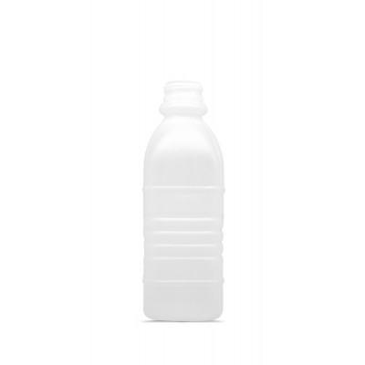 4837 - frasco 500ml quadrado com tampa transparente com lacre Orien 100un