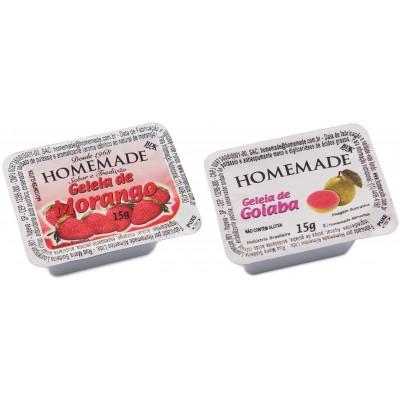 4880 - blister geléia morango e goiaba Homemade 144 x 15g