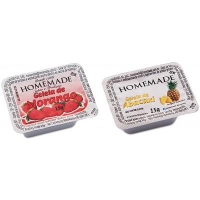 4881 - blister geléia morango e abacaxi Homemade 144 x 15g