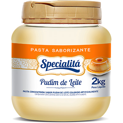 4884 - Specialitá pasta saborizante pudim de leite 2kg