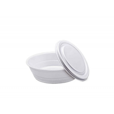 4964 - marmita N8 750ml isopor branca redonda Totalplast 100un tm-102