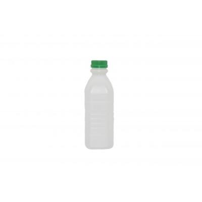 5118 - frasco 500ml quadrado com tampa verde com lacre Orien 100un